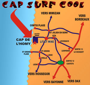 carte situation cap surf cool